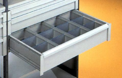 Frabetti cassetto metallico con divisori posizionabili for Minuteria per mobili