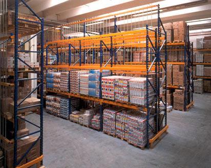 Scaffalature Porta Pallets.Frabetti Scaffalatura Portapallet Apr Con Protezioni Di